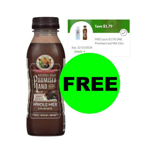 "Fox Deal Of The Week: ? ""Clip"" Digital Coupon For FREE Promised Land Milk At Publix! (Ends 12/15)"