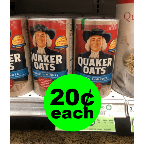 Publix Deal: 20¢ Quaker Oatmeal Canisters! 🥣 (12/12 or 12/13-12/16)