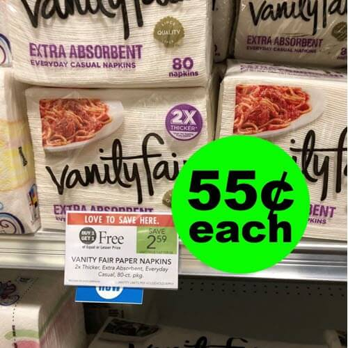 Publix Deal: 55¢ Vanity Fair Napkins! ? (11/14-11/21 or 11/15-11/21)