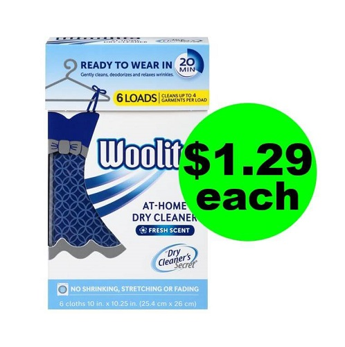 Publxi Deal: ? $1.29 Woolite At-Home Dry Cleaner Secret (Save 84%, After Ibotta)! (11/3-11/16)