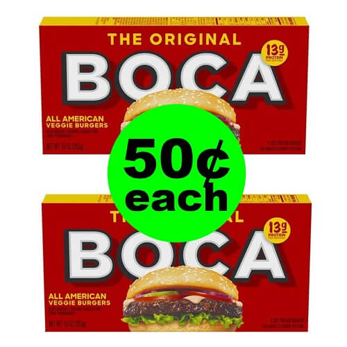 Sneak Peek Publix Deal: ? 50¢ Boca Veggie Burgers (After Ibotta)! (1/2-1/8 or 1/3-1/9)