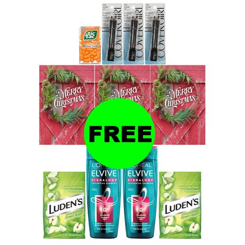 CVS Deal Idea: 🤑 70¢ Money Maker On (5) Beauty Products, (3) Hallmark Cards & (2) Cough Drops! (12/16-12/22)