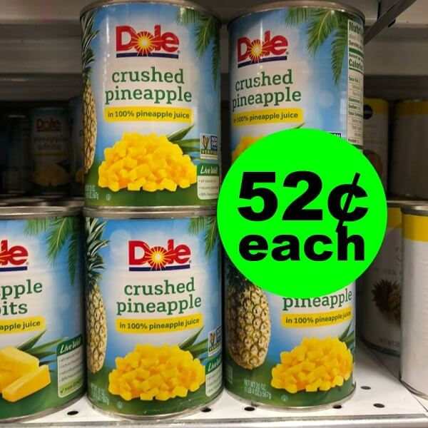 Publix Deal: 🍍 52¢ Dole Canned Pineapple! (Ends 4/23 or 4/24)