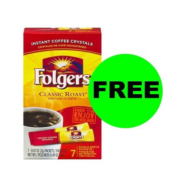 "Publix Deal: ☕ ""Clip"" For FREE Folgers Coffee Single Serve Packets! (Ends 4/1)"