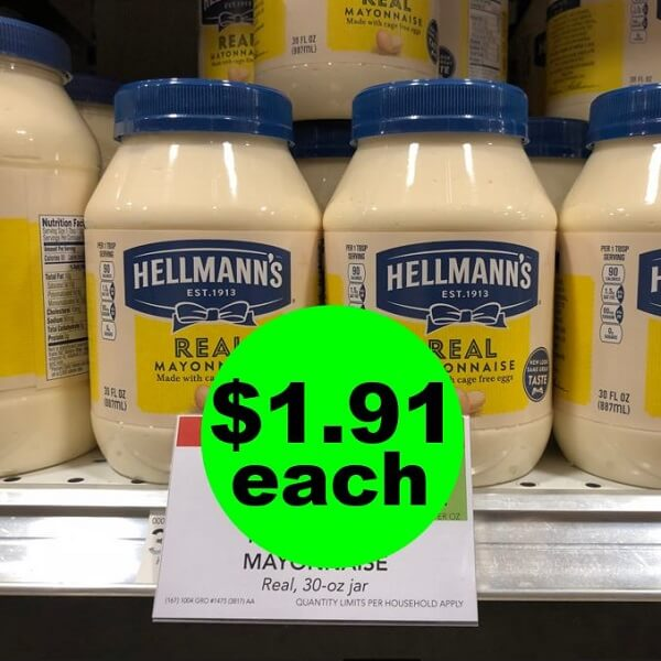 Publix Deal: 🥪 $1.91 Hellmann's Mayonnaise! (Ends 4/23 or 4/24)
