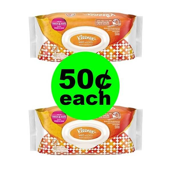 CVS Deal: 👋 50¢ Kleenex Wet Wipes! (2/17-2/23)