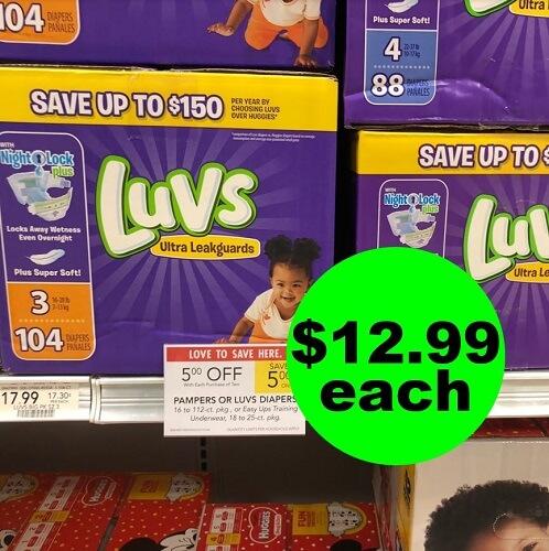 Publix Deal: ? $12.99 Luvs Boxes Diapers! (Ends 12/4 or 12/5)