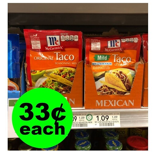 Publix Deal: 🌮 33¢ McCormick Taco Seasoning Mixes! (1/19-2/1)