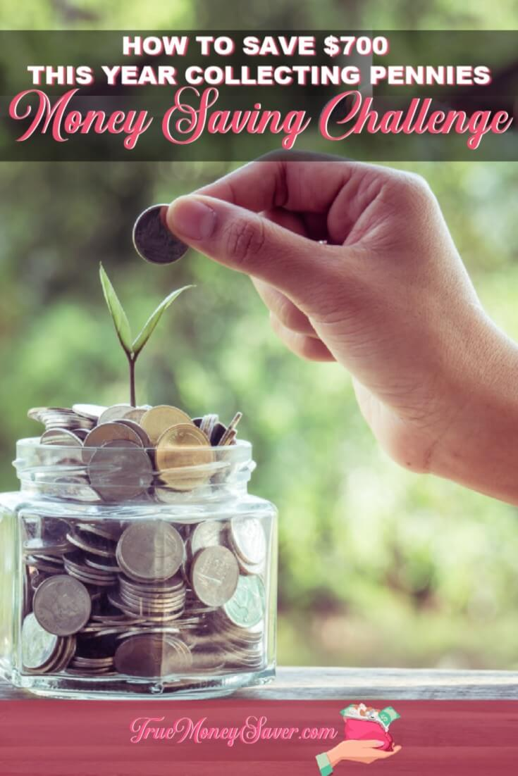 A 52 week money saving challenge can be hard to complete. Here's 10 options to that'll get you around $700 simply collecting spare change. #savings #savingchallenge #savingmoney