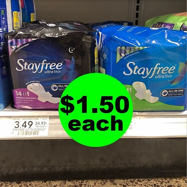 Publix Deal: 😊 $1 50 Stayfree Pads Or Carefree Liners