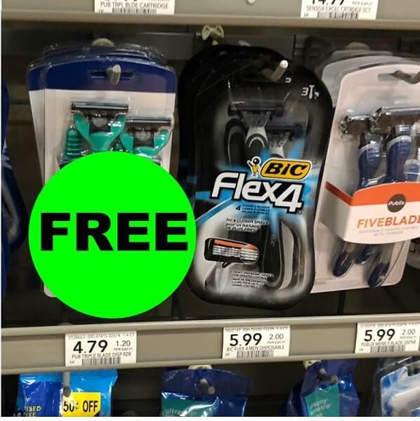 Publix Deal: 🧔🏻 Print For FREE BIC Flex4 Disposable Razors! (2/23-3/8)