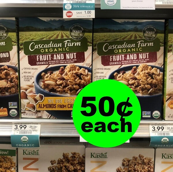 Publix Deal: 🥣 50¢ Cascadian Farm Organic Cereals (After Ibotta)! (2/27-3/5 Or 2/28-3/6)
