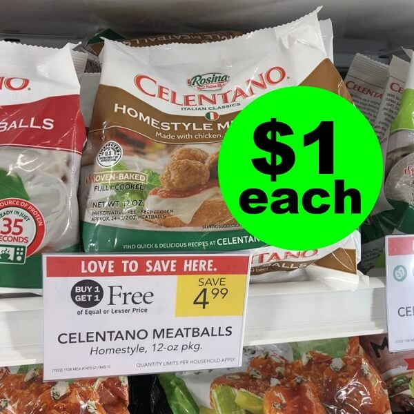 Publix Deal: 🍝 $1 Celentano Meatballs! (Ends 4/23 or 4/24)