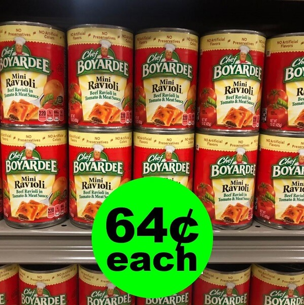 Publix Deal: 🌀 64¢ Chef Boyardee Canned Pasta! (6/5 Or 6/6-6/7)