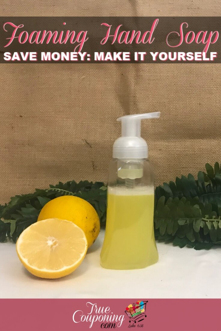 Foaming hand soap is expensive! You can quickly and easily make your own for just pennies. And you\'ll get to customize the color and scent to match! #savingmoney #householdhacks #diy