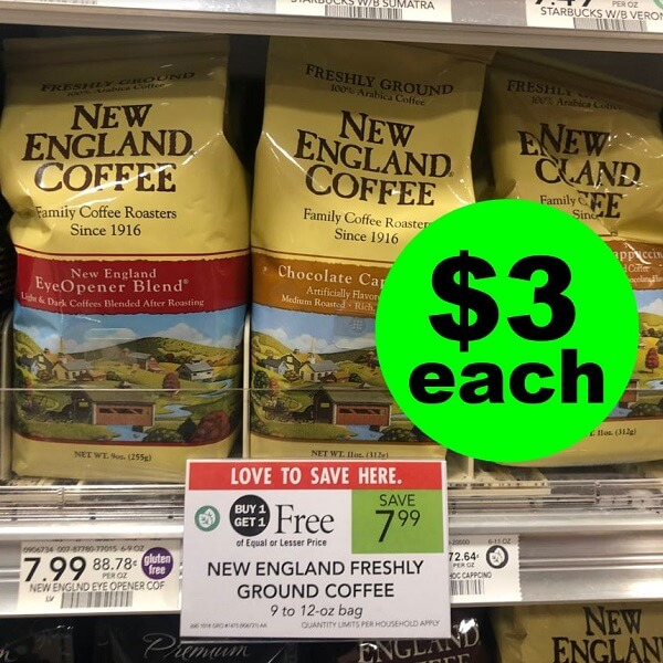 Publix Deal: ☕ $3 New England Coffee Bags Or $3.30 K-Cups! (5/22-5/28 Or 5/23-5/29)