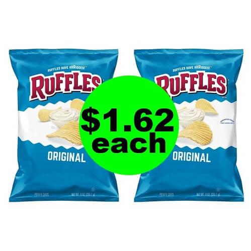 Publix Deal: 😋 $1.62 Ruffles Potato Chips (After Ibotta)! (1/9-1/15 or 1/10-1/16)