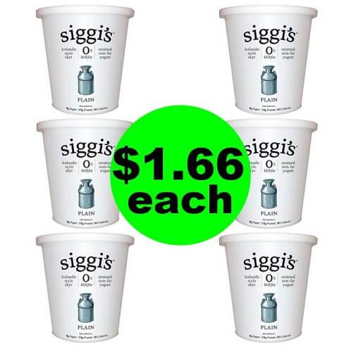 Publix Deal: 🥄 $1.66 Siggi's Icelandic Style Yogurt Tubs (Save 72% Off)! (1/2 or 1/3-1/5)