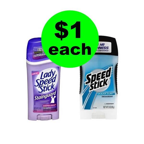 CVS Deal: 🤸♀️ $1 Speed Stick or Lady Speed Stick Deodorant! (2/17-2/23)