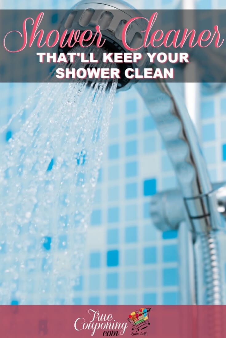 If your shower is in need of the best shower cleaner, try this recipe! It\'s super cheap, easy to make and works great on tile, plastic, and glass! #truemoneysaver #savingmoney #cleaninghacks