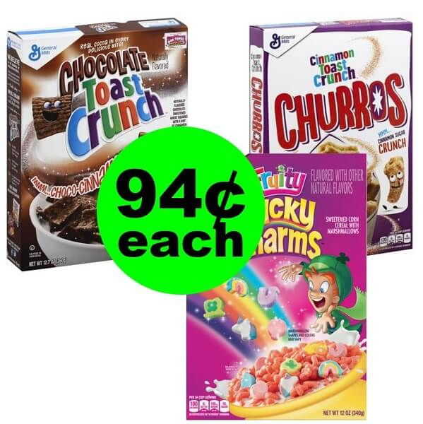 Publix Deal: 🥣 94¢ General Mills Cereal! (Ends 3/26 Or 3/27)