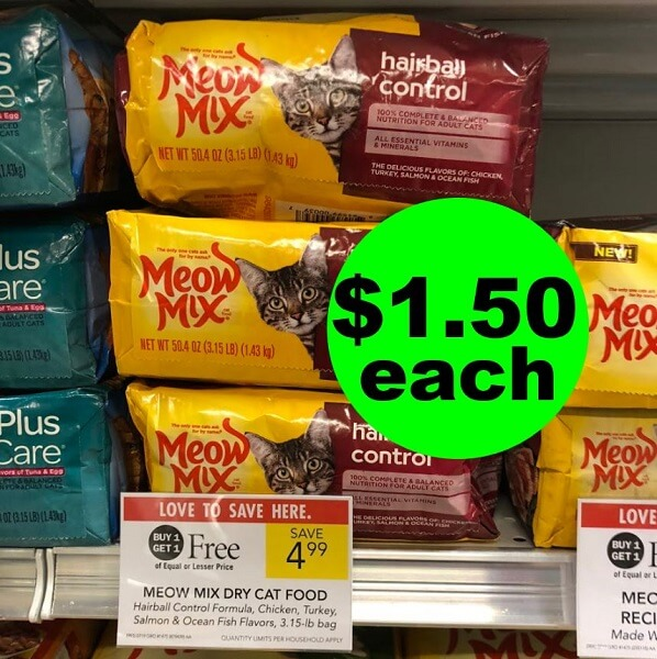Publix Deal: 🐱 $1.50 Meow Mix Cat Food! (Ends 3/26 Or 3/27)