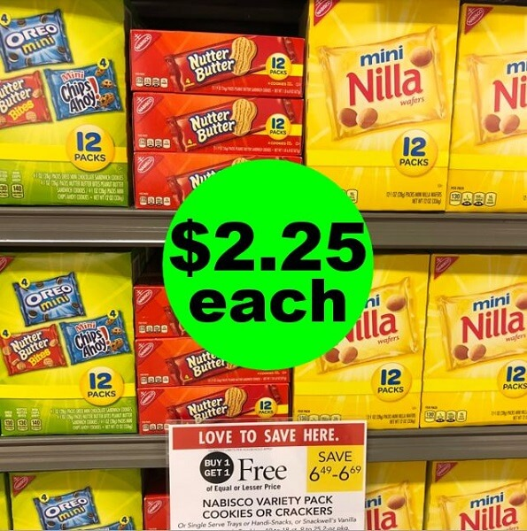 Publix Deal: 🍪 Nabisco Variety Packs As Low As $2.25 Each! (Ends 4/2 Or 4/3)