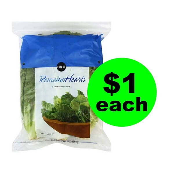 "Publix Deal: 🥗 ""Clip"" For $1 Publix Romaine Hearts! (2/13-2/19 or 2/14-2/20)"
