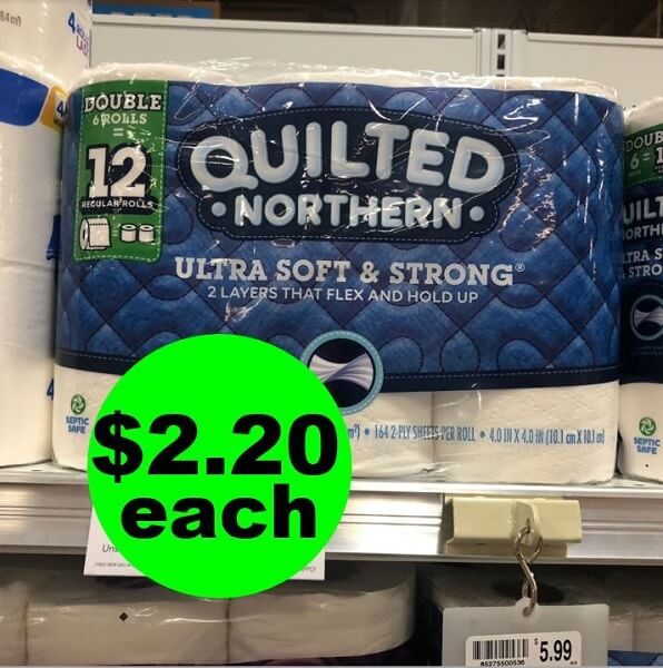 Publix Deal: $2.20 Quilted Northern Bath Tissue Double Roll 6 Packs! (6/5-6/11 Or 6/6-6/12)