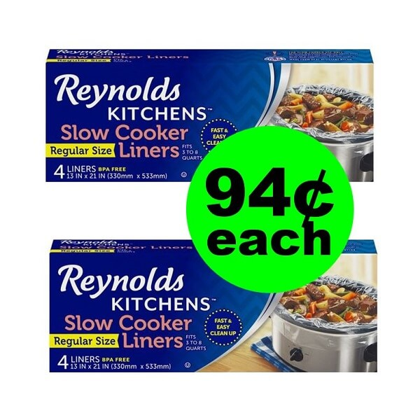 Publix Deal: 🍖 94¢ Reynolds Slow Cooker Liners (Save 64% Off)! (Ends 2/5 or 2/6)