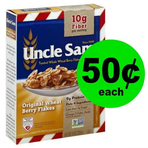 Cheap Breakfast Time! Pick Up 50¢ Uncle Sam Cereal at Publix!