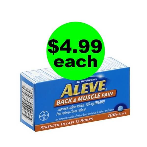 Publix Deal: 💪 $4.99 Aleve Back & Muscle Pain Reliever 100 Count Bottles (Save 55% Off)! (4/28-4/30 Or 5/1)