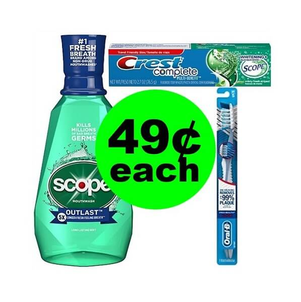 CVS Deal: 😁 49¢ Crest Toothpaste, Scope Mouthwash Or Oral-B Toothbrush ! (4/21-4/27)