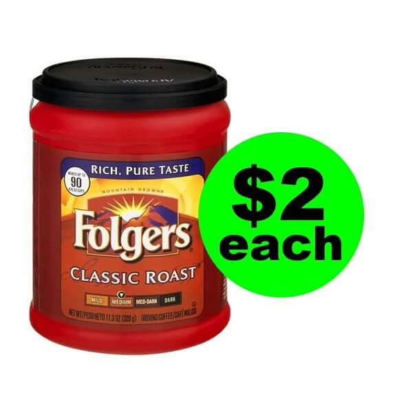 Publix Deal: ☕ $2 Folgers Coffee Canisters (After Ibotta)! (Ends 3/15)
