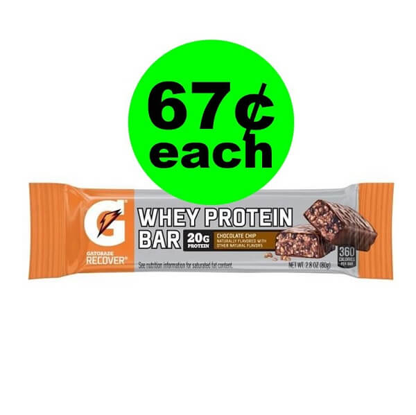 Publix Deal: 🏃‍♀️ 67¢ Gatorade Recover Whey Protein Bar (After Ibotta)!