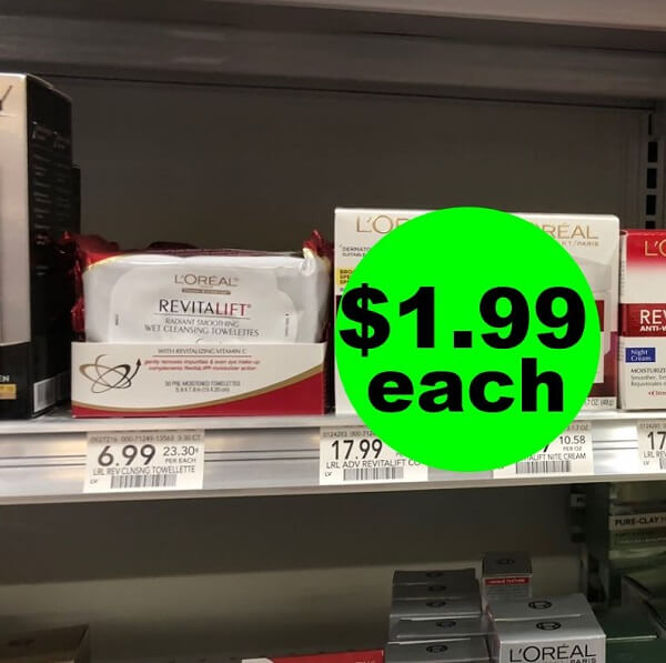 Publix Deal: 👩‍🍳 $1.99 L'Oreal Makeup Remover Towelettes (Save 72% Off)! (Ends 3/22)