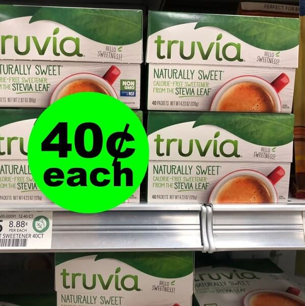 Publix Deal: 😋 40¢ Truvia Stevia Sweetener! (3/20-3/26 Or 3/21-3/27)