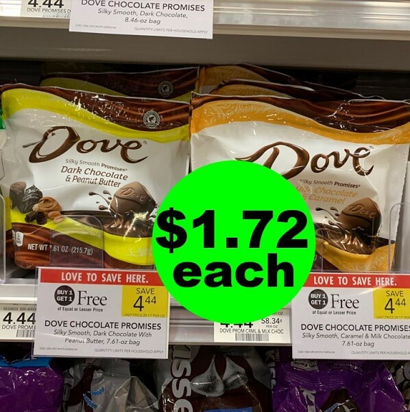 Publix Deal: 🍫 Print Now For $1.72 Dove Chocolate Promises Candy Bags! (Ends 4/20)