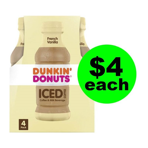 Publix Deal: 🥤 Print For $4 Dunkin Iced Coffee 4 Packs (Just $1 Per Bottle)! (Ends 5/10)