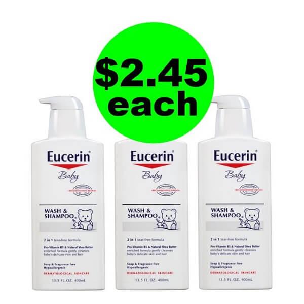 CVS Deal: 👶🏾 $2.45 Eucerin Baby Wash and Shampoo (Reg. $9.+)! (4/21-4/27)