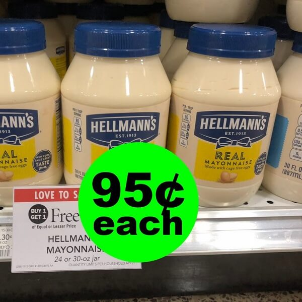 Publix Deal: 🥪 95¢ Hellmann's Mayonnaise Jars (After Ibotta)! (Ends 5/28 Or 5/29)