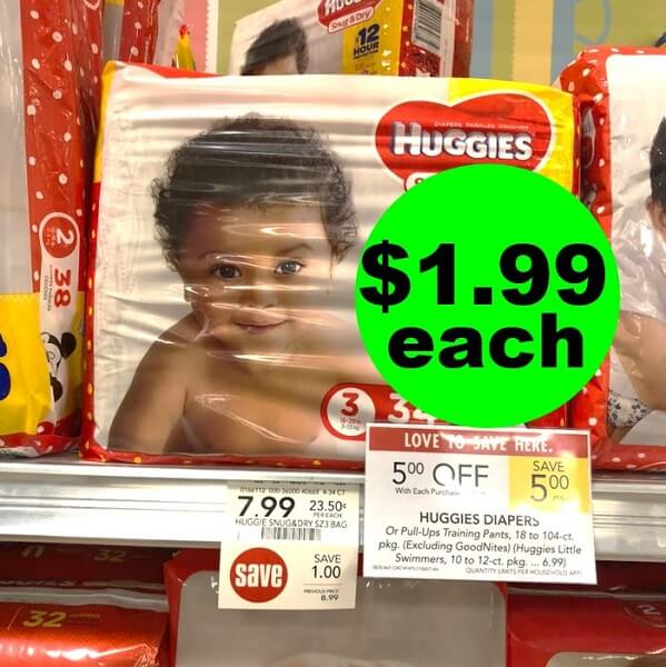 Publix Deal: 🐤 $1.99 Huggies Diapers! (5/22-5/28 Or 5/23-5/29)