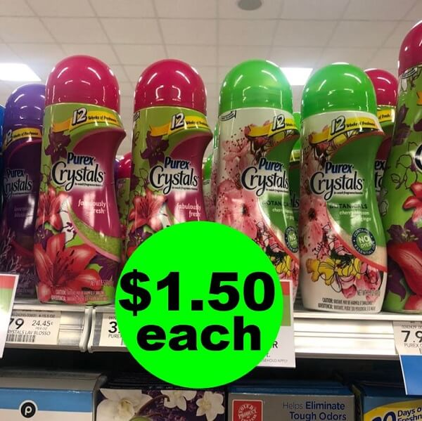 Publix Deal: 👖 $1.50 Purex Crystals Fragrance Boosters! (5/5-5/7 Or 5/8)