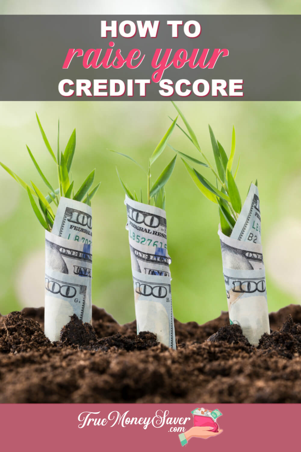 Is your credit score rating less than ideal? You can raise it with these easy steps. #trucouponing #debtfree #creditrepair #credit #financialfreedom