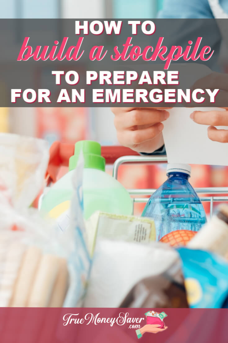 Do you need an emergency food supply? In 4 simple steps, you can create an emergency food supply kit. You can save money and time with these emergency food supply list ideas. Get prepared with a disaster preparedness emergency food supply today!  #truemoneysaver 