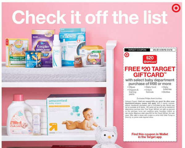 f22044372fc FREE  20 Gift Card with select Baby Department purchase of  100 or more