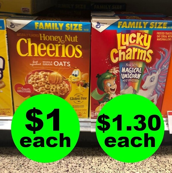 Publix Deal: 🥣 $1 Family Size Cheerios Cereal Or $1.30 Family Size Lucky Charms Cereal (After Ibotta)! (6/2-6/4 Or 6/5)