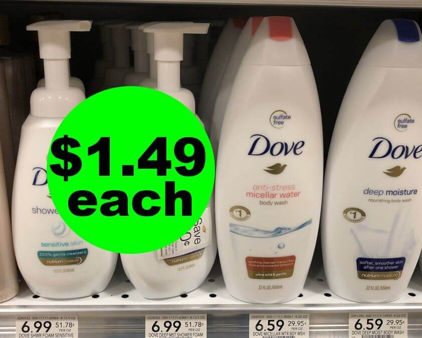 Publix Deal: 🛀 $1.49 Dove Body Wash, Shower Foam & Polish! (5/8-5/14 Or 5/9-5/15)