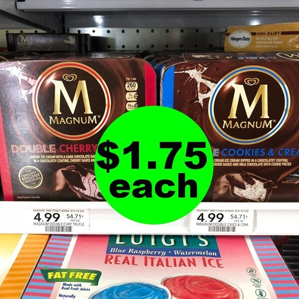 Publix Deal: 🍨 $1.75 Magnum Ice Cream Bars Or Pints! (5/8-5/14 Or 5/9-5/15)