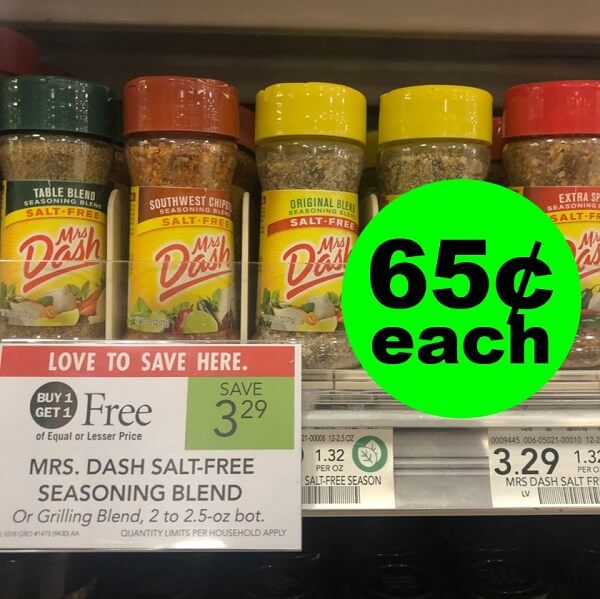 Publix Deal: 👩‍🍳 65¢ Mrs. Dash Seasoning Blends! (5/8-5/14 Or 5/9-5/15)